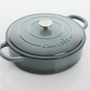 Crock Pot Artisan 5 Quart Gray Enameled Round Cast Iron Braiser
