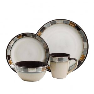 Gibson Elite Casa Gris 16-Piece Dinnerware Set