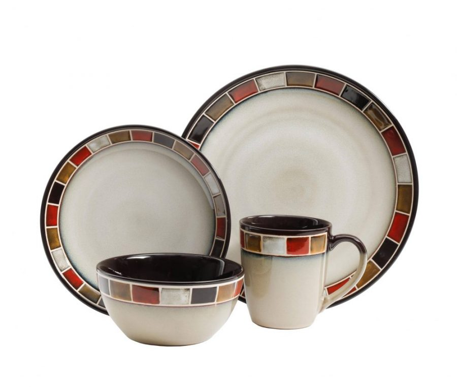 Multi-Color Reactive Glaze Stoneware Dinnerware Set  sc 1 st  Plum Street Pottery & Gibson Elite Casa Roja 16-Piece Dinnerware Set | Plum Street Pottery