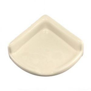 Lenape Small Bone Ceramic Shower Shelf