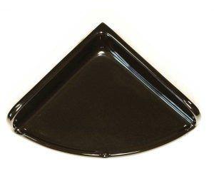 Lenape Large Black Ceramic Shower Shelf