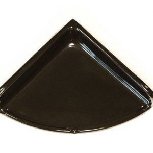 Lenape Large Black Ceramic Shower Shelf