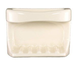 Lenape Bone Ceramic Soap Dish & Cloth Holder