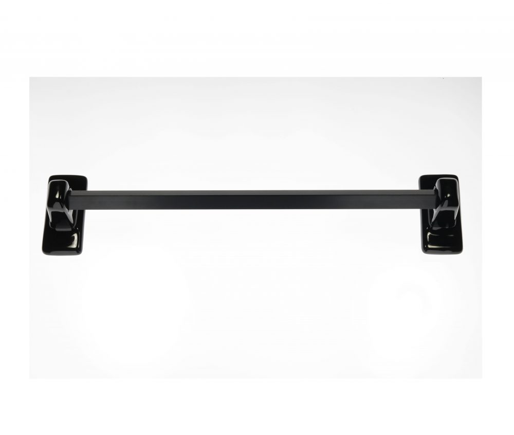 Black Ceramic Towel Bar Set Plum Street Pottery