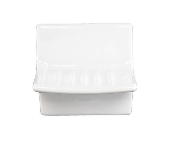 Lenape White Ceramic Soap Dish