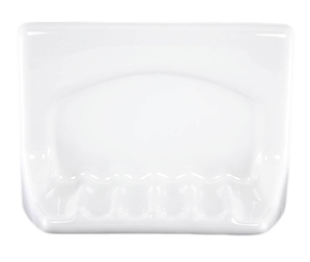 White Ceramic Tub Soap Holder Plum Street Pottery