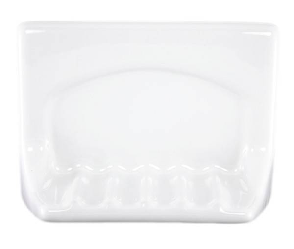 Lenape Proseries White Ceramic Tub Soap Dish Plum Street