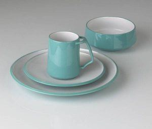 Dansk Kobenstyle Teal 4 Piece Place Setting