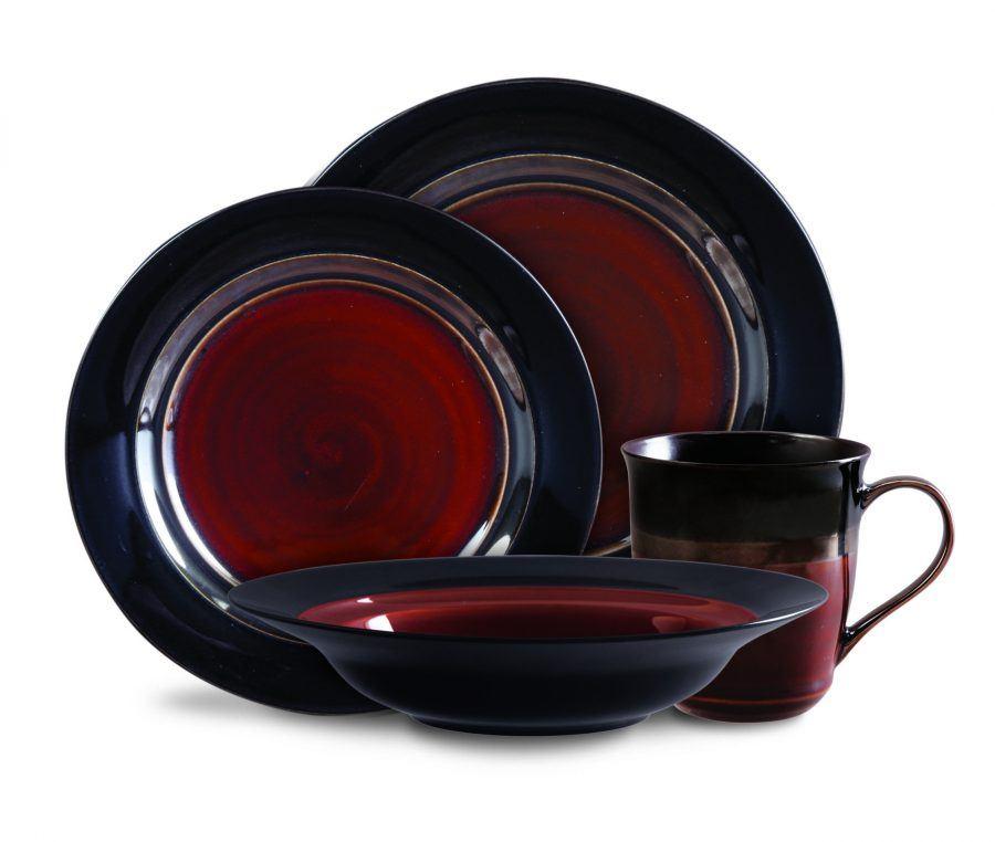 Calypso Court Burgundy dinnerware set by Gibson  sc 1 st  Plum Street Pottery & 91310.16 508430 | Plum Street Pottery