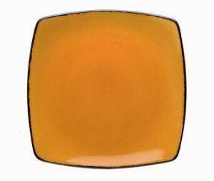 D&V Fortessa Spice Saffron Square Salad Plate