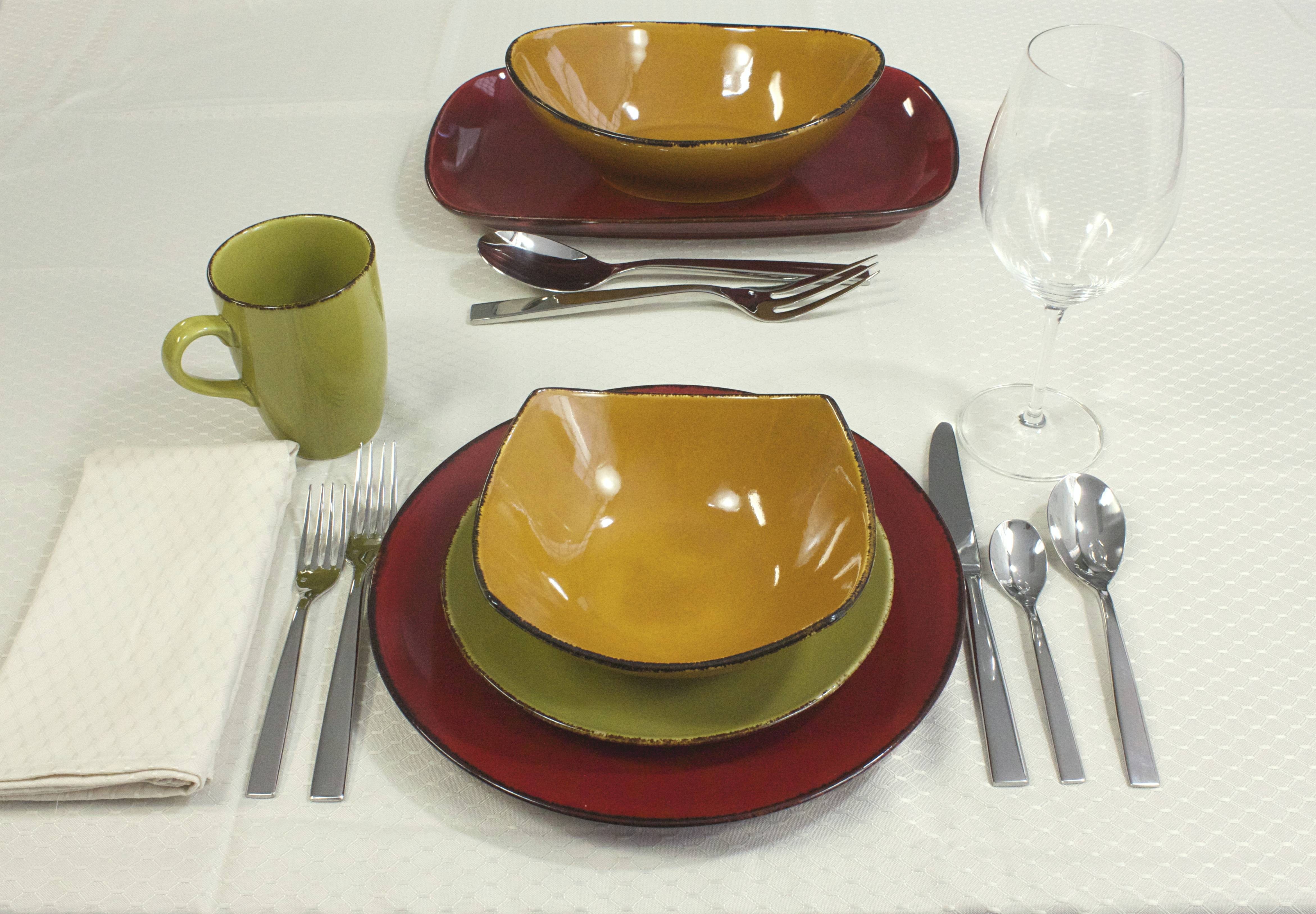... Dinnerware Materials · Additional Photos · How Dinnerware is Sold & D\u0026V Fortessa Spice Cilantro Square Dinner Plate | Plum Street Pottery