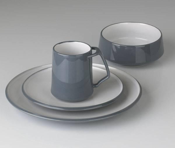 Stoneware 4-Piece Place Setting & DANSK Kobenstyle Slate 4-Piece Place Setting | Plum Street Pottery
