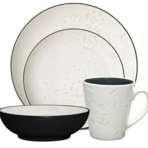 Noritake Graphite Bloom 4-Piece Place Setting