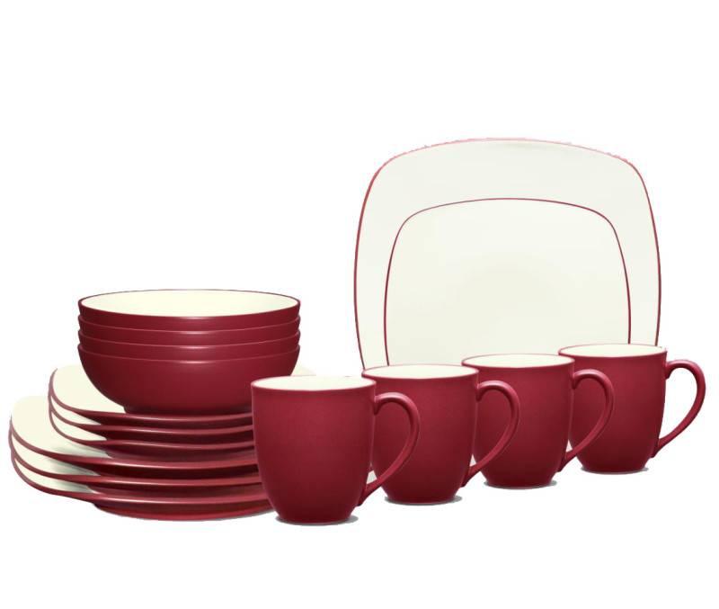 noritake colorwave square dinnerware set