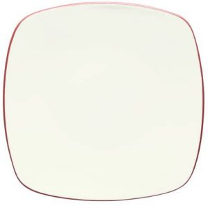 Noritake-Colorwave-Raspberry-Square-Dinner-Plate