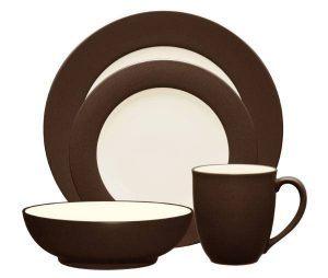 Noritake-Colorwave-Chocolate-Rim-Dinnerware-Collection