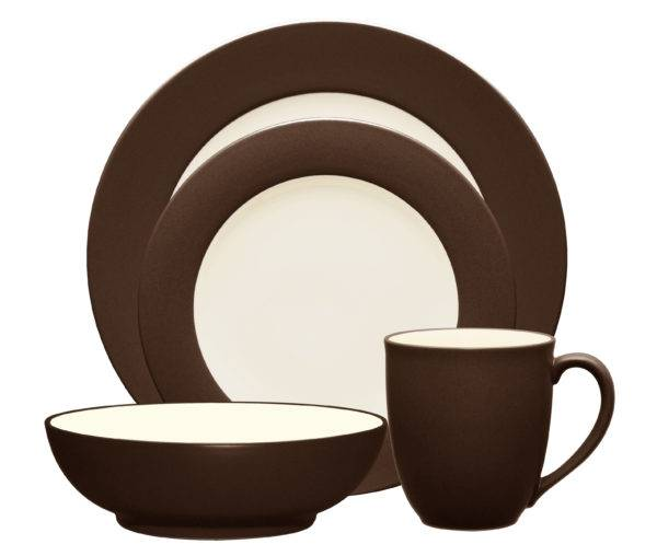 Noritake Colorwave Chocolate Rim Dinnerware Collection