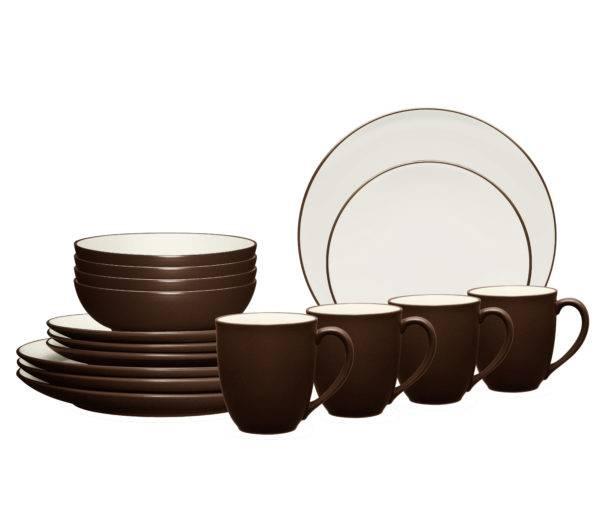 Noritake Colorwave Chocolate Dinnerware Set | Plum Street Pottery