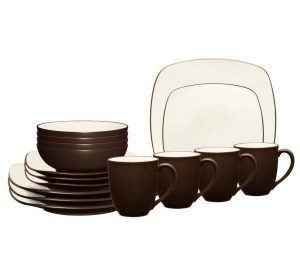 Noritake-Colorwave-Chocolate-Square-Dinnerware-Set