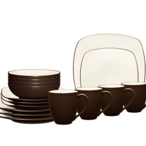 Noritake-Colorwave-Chocolate-Square-Dinnerware-Set