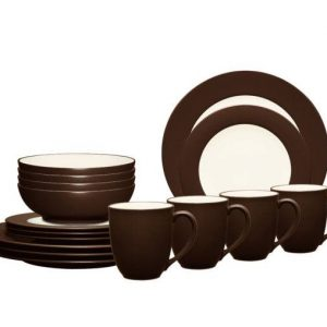 Noritake-Colorwave-Chocolate-Rim-Dinnerware-Set