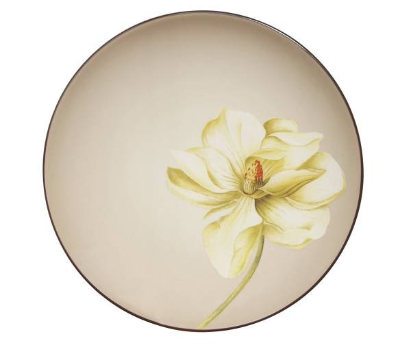 Noritake-Colorwave-Chocolate-Floral-Accent-Plate
