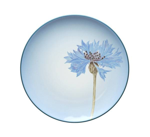 Noritake-Colorwave-Blue-Floral-Accent-Plate
