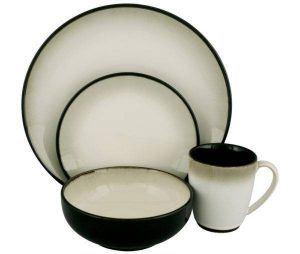 Sango Nova Black Dinnerware Set