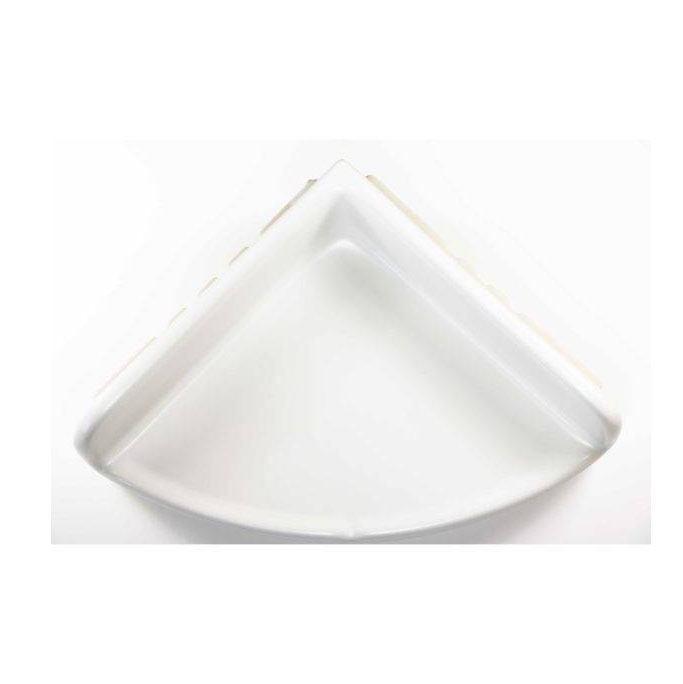 Lenape ProSeries Large Matte White Ceramic Shower Shelf