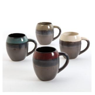 Gibson Home Soroca 4-Piece Mug Set, Assorted Colors