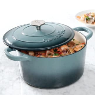 Crock Pot Artisan 5 Qt Enameled Round Cast Iron Dutch Oven