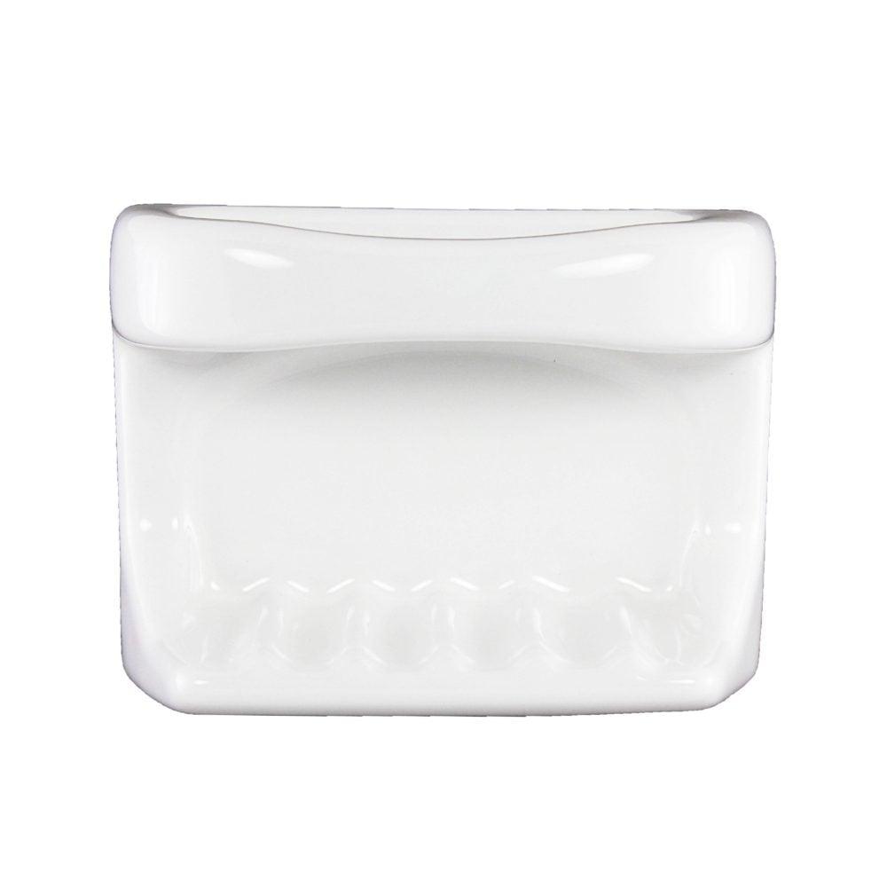 Lenape Proseries White Ceramic Tub Soap Dish Plum Street