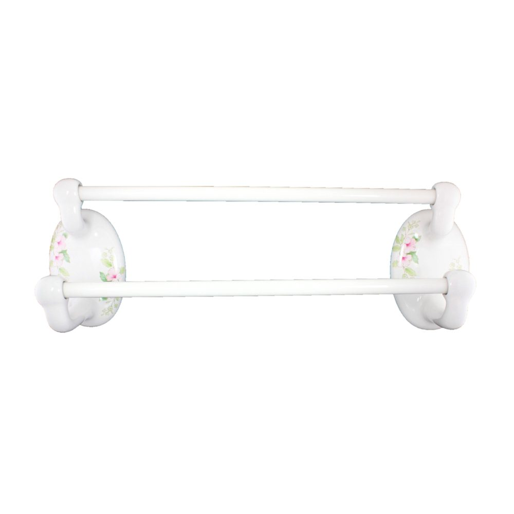 Lenape Classic Blossoms Double Towel Bar Set
