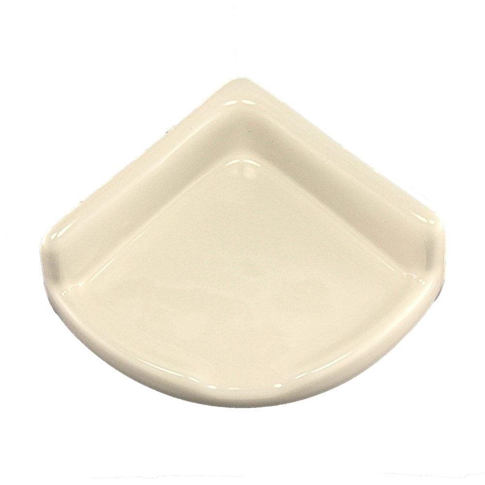 Lenape Proseries Small Bone Ceramic Shower Shelf 2 1 4 H X 4 1 4 W X 5 1 8 W