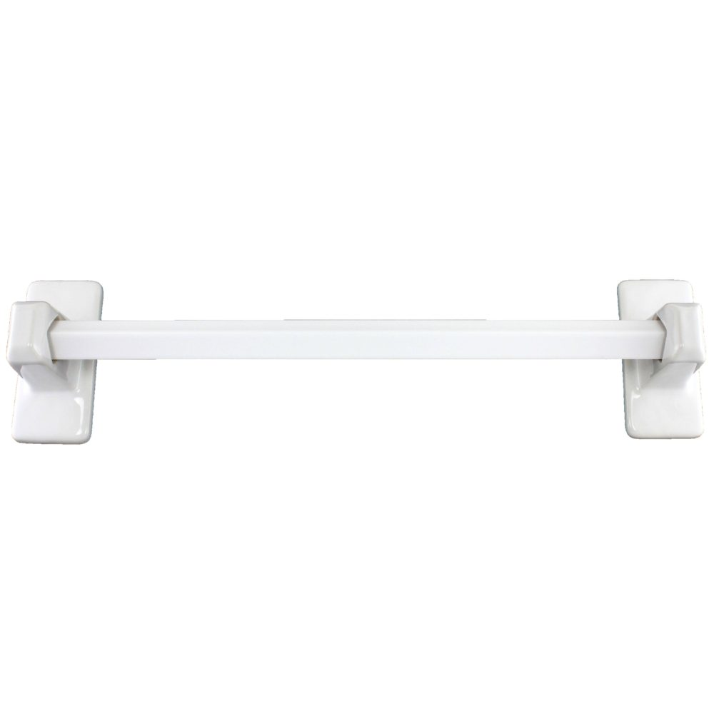 White Ceramic Towel Bar 24 Inches Plum Street Pottery