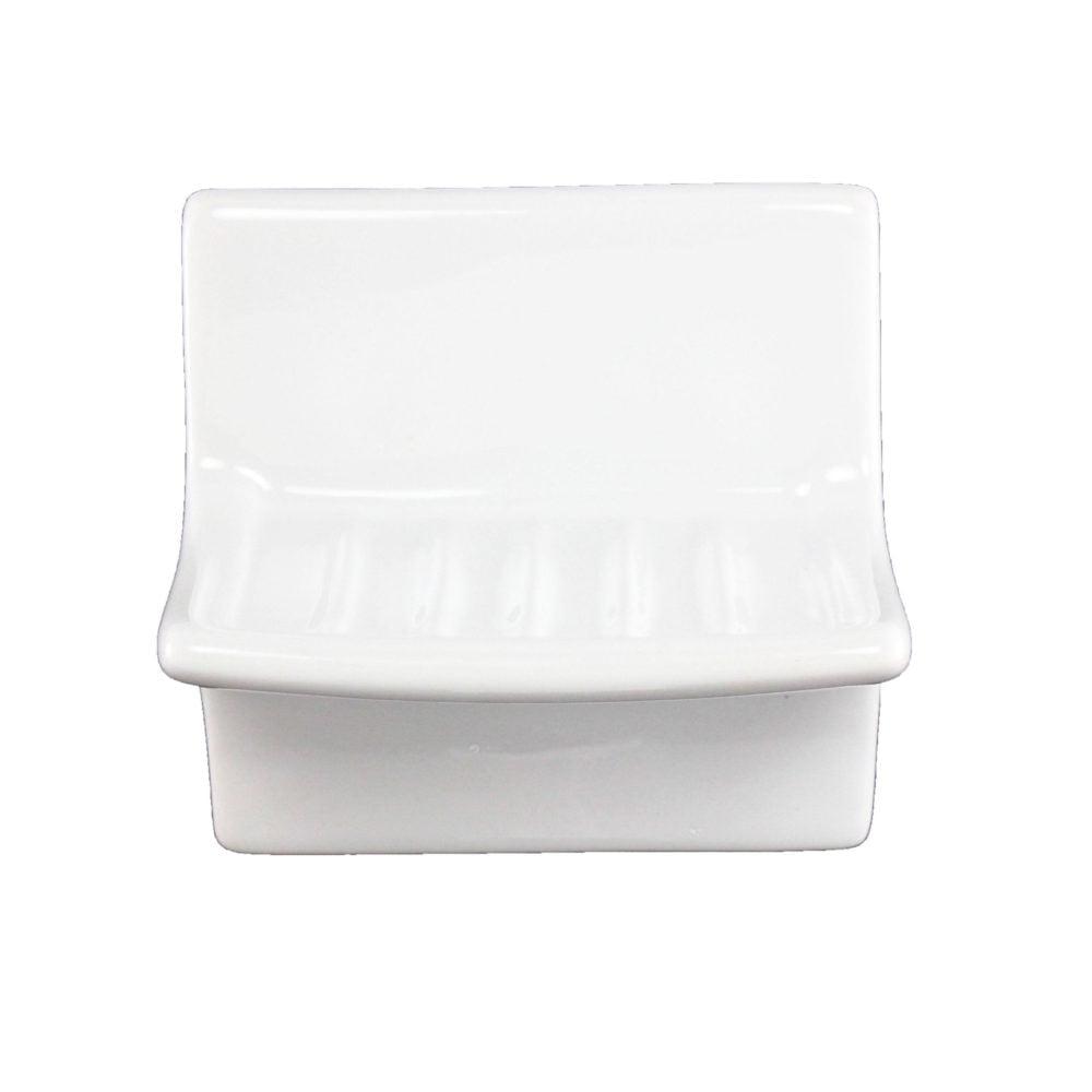 White Ceramic Wall Mount Soap Dish 4 X 4 Plum Street Pottery