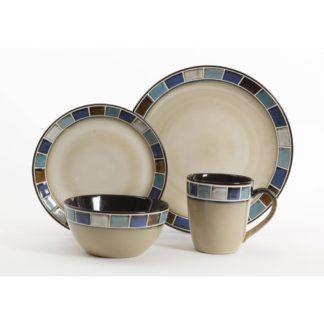 Gibson Casa Azul 16-Piece Dinnerware Set