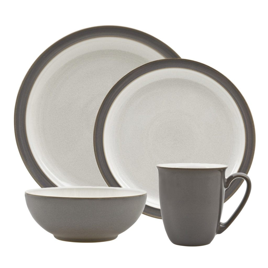 Denby Blends Truffle 4-Piece Place Setting