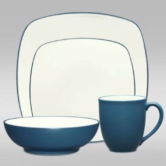 Noritake Colorwave Blue Square 4-Piece Place Setting