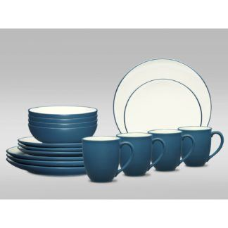 Noritake Colorwave Blue Coupe 16-Piece Dinnerware Set