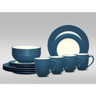 Noritake Colorwave Blue 16-Piece Dinnerware Set