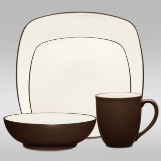 Noritake Colorwave Chocolate Square 4-Piece Place Setting