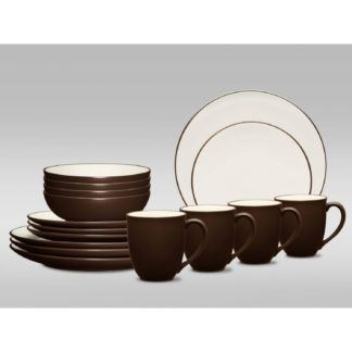 Noritake Colorwave Chocolate Coupe 16-Piece Dinnerware Set
