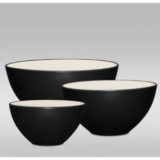 Noritake Colorwave Graphite 3-Piece Bowl Set