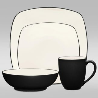 Noritake Colorwave Graphite Square 4-Piece Place Setting