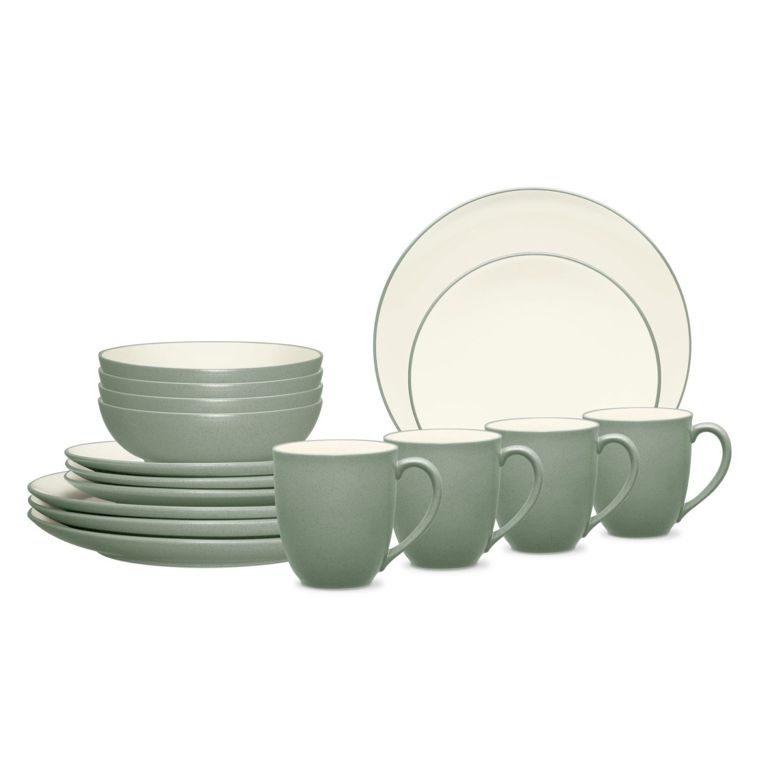 Noritake Colorwave Green Coupe 16-Piece Dinnerware Set