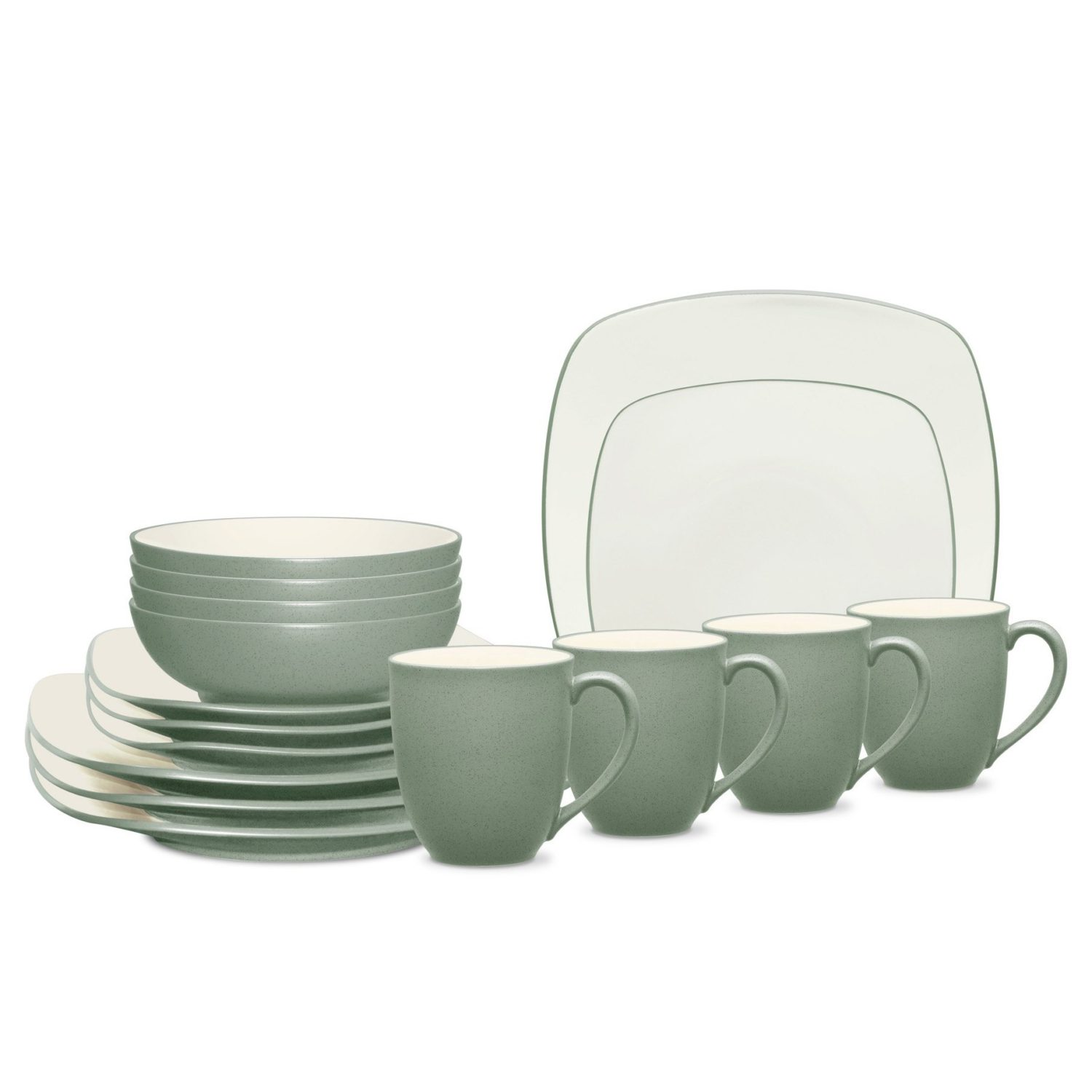 Noritake Colorwave Green Square 16-Piece Dinnerware Set