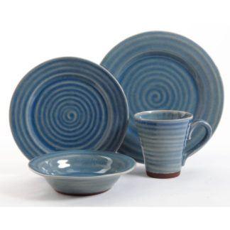 Gibson Mariani Blue 16-Piece Dinnerware Set