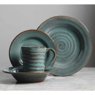 Gibson Mariani Teal 16-Piece Dinnerware Set
