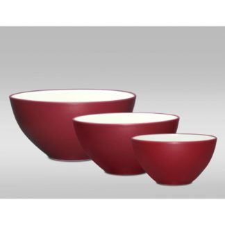 Noritake Colorwave Raspberry Set of 3 Bowls